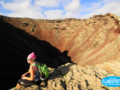 walking trekking hiking volcan corona Lanzarote