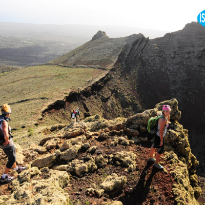 trekking walking hiking volcan corona Lanzarote